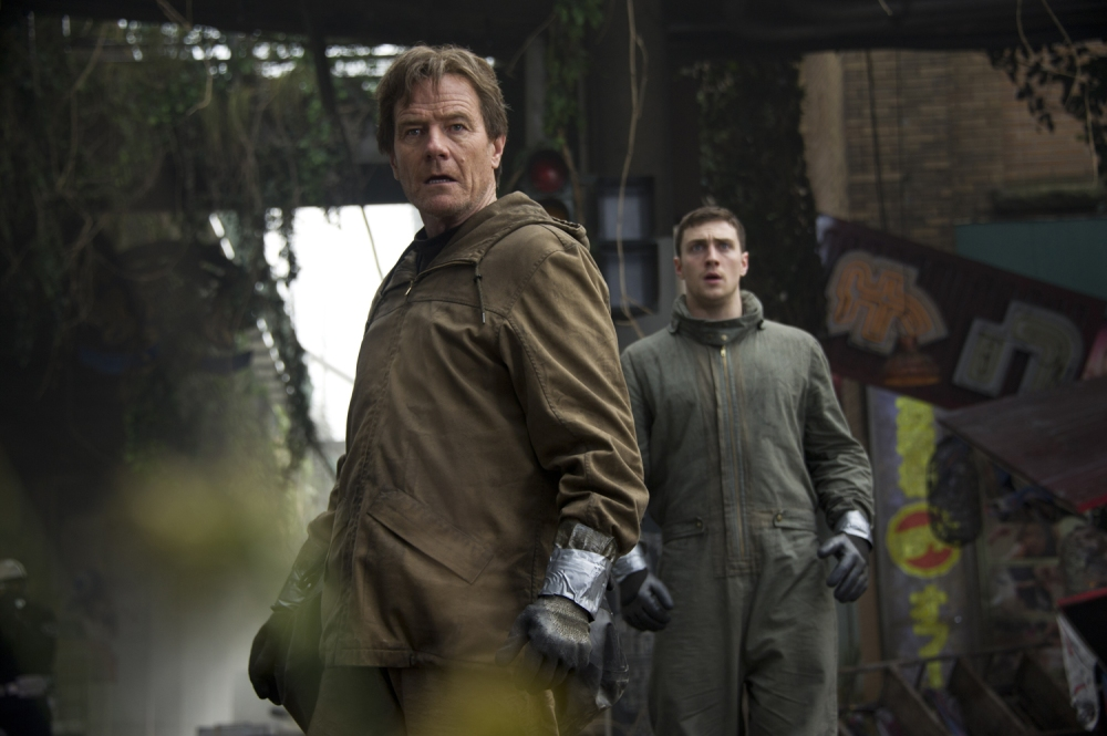 Cranston and Taylor-Johnson in Godzilla.