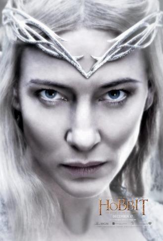 Cate Blanchett as Galadriel.