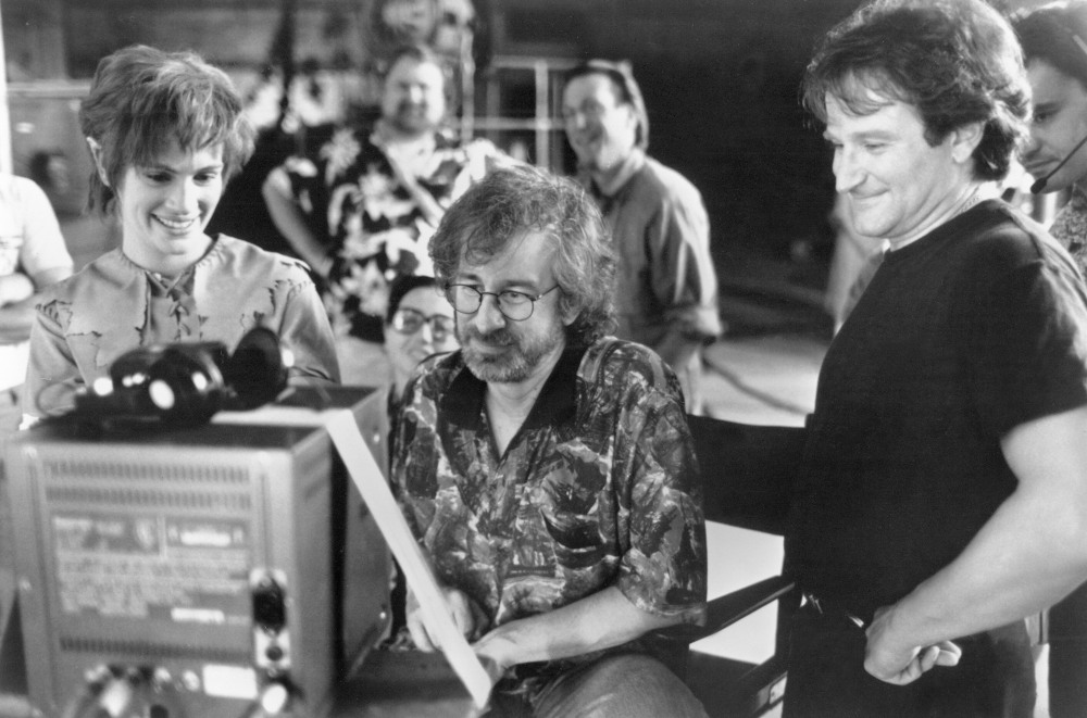 Robin Williams, behind the scenes shooting Hook.