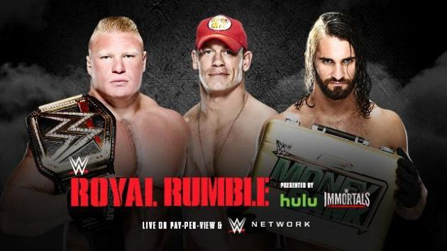 Brock vs Rollins Vs Cena