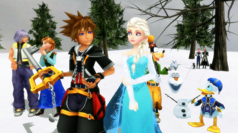 Kingdom Hearts meets Frozen, anyone?