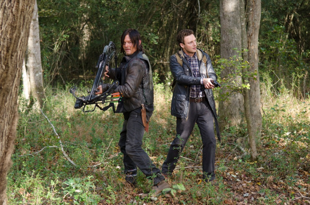 Daryl and newcomer Aaron, best buds.