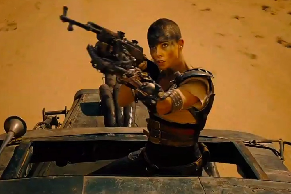 Charlize Theron as Furiosa.