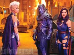 Oscar Isaac's Apocalypse alongside Storm (Alexandra Shipp) and Psylocke (Olivia Munn)