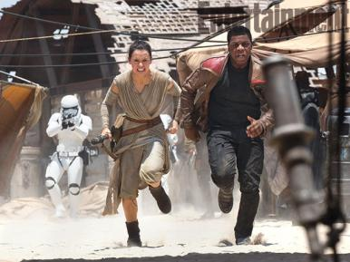 Daisy Ridley's Rey and John Boyega's Finn