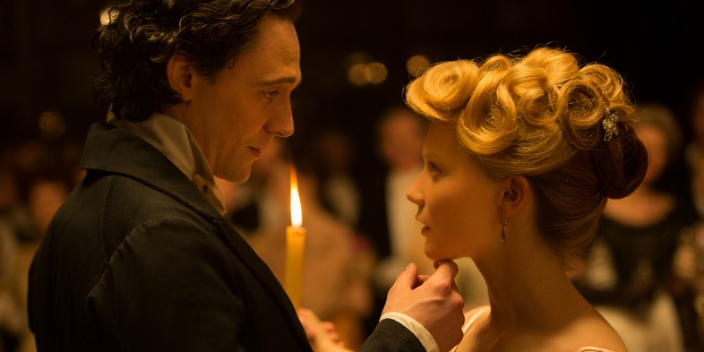 Thomas and Edith (Tom Hiddleston and Mia Wasikowska).