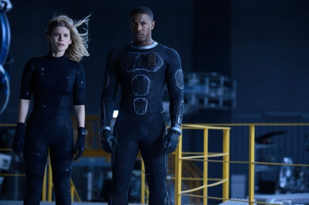 Susan (Kate Mara) and Johnny Storm (Michael B. Jordan).