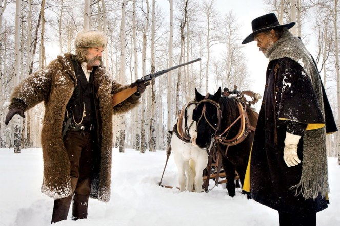 The Hateful Eight, shot by Robert Richardson.