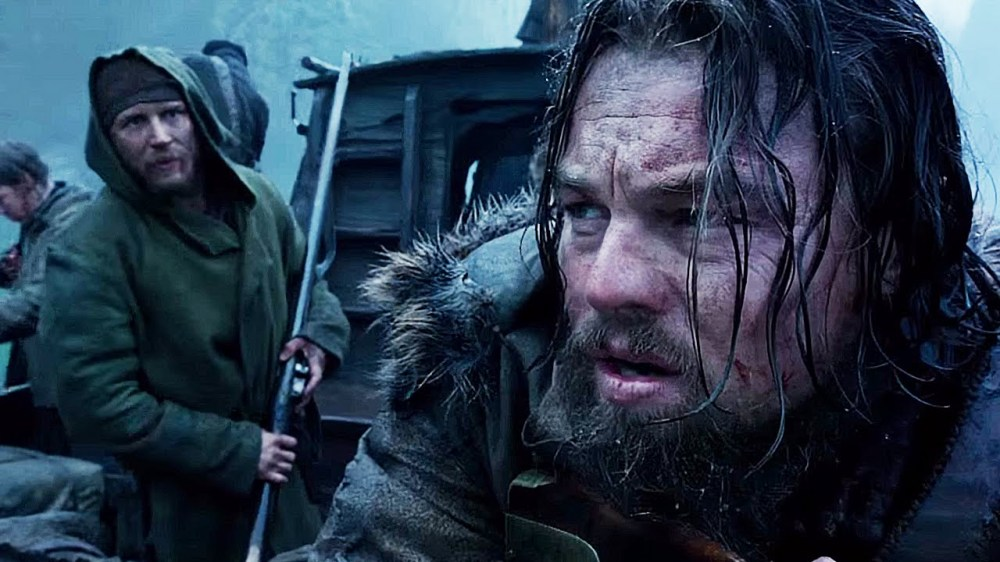 Tom Hardy and Leonardo DiCaprio in The Revenant.