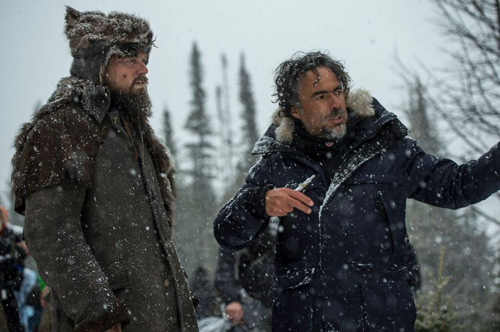 The Revenant, behind the scenes.