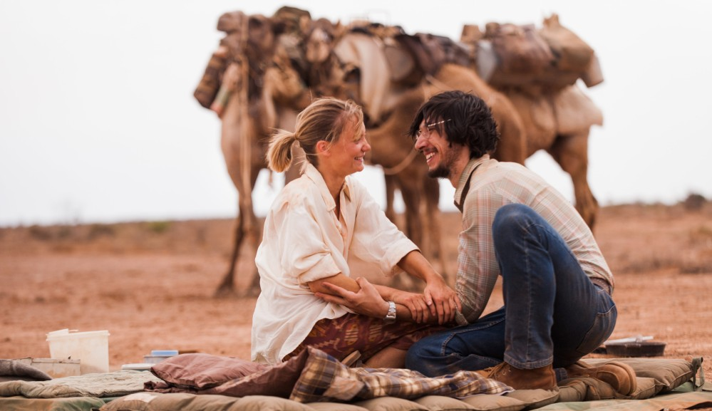 Mia Wasikowska and Adam Driver in Tracks.