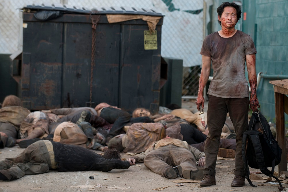 Steven Yeun as Glenn, survivor of walkers.