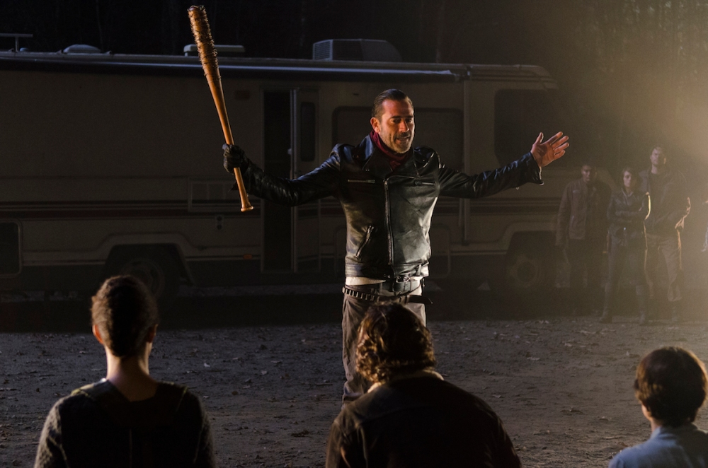 Negan (Jeffrey Dean Morgan) introduces his good friend Lucille.