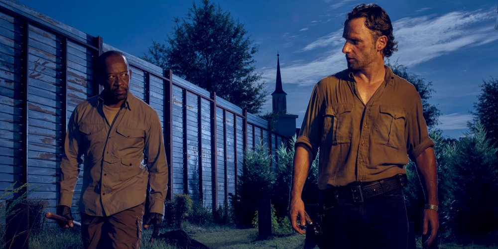 Lennie James as Morgan and Andrew Lincoln as Rick Grimes.