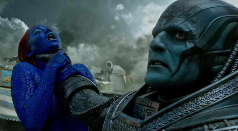 Jennifer Lawrence's Mystique meets Apocalypse.