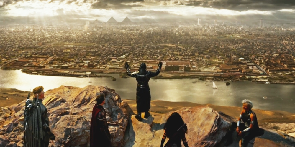 Apocalypse (Oscar Isaac) and his Four Horsemen.