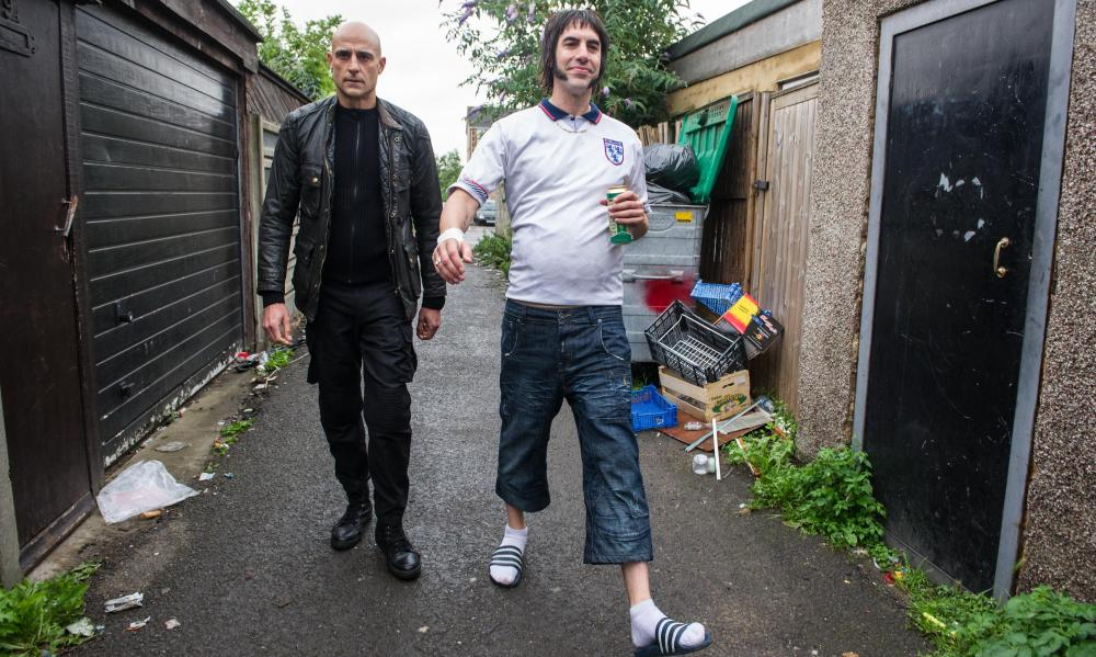 Mark Strong as Sebastian and Sacha Baron Cohen as Nobby.