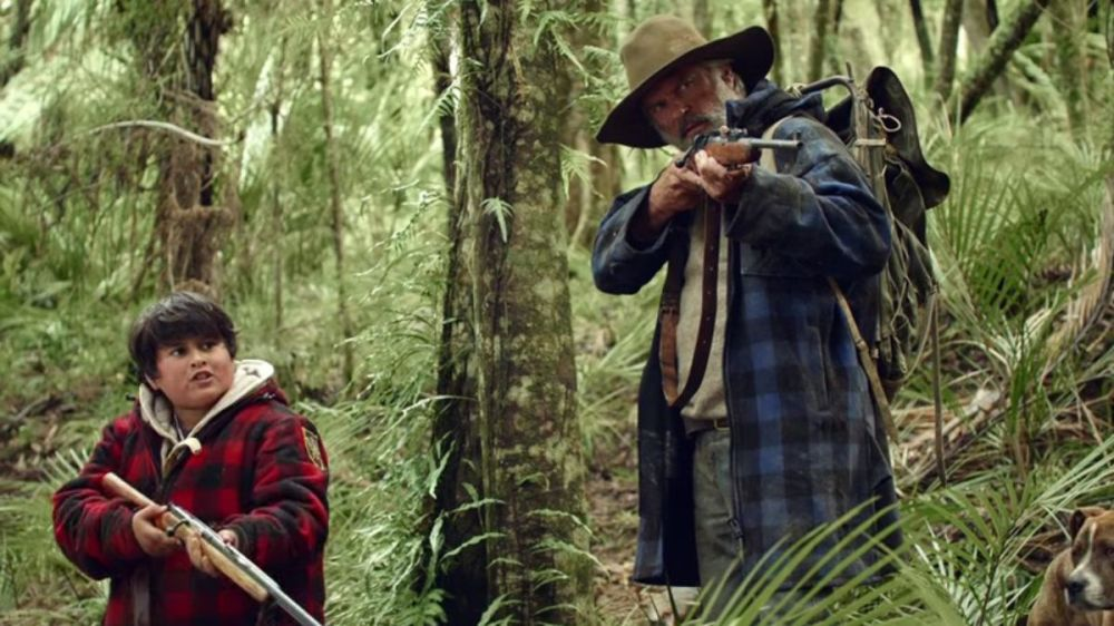 Julian Dennison as Ricky and Sam Neill as Uncle Hec.