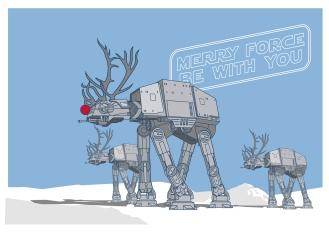 AT-AT reindeers, bringing the festive cheer.