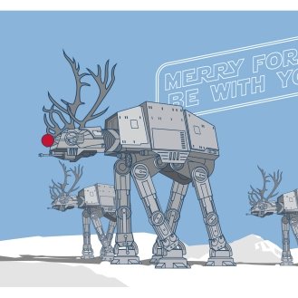 AT-AT reindeers, bringing the festive cheer.