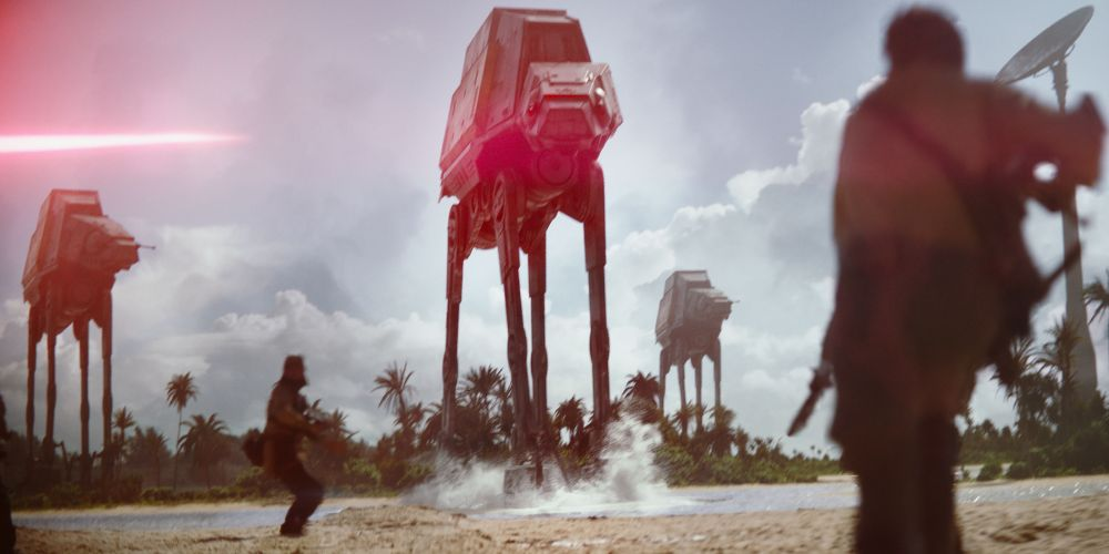 Beach warfare on Scarif.